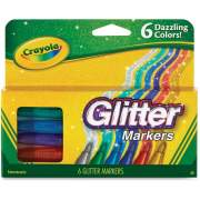 Crayola 6 Color Glitter Markers (588629)