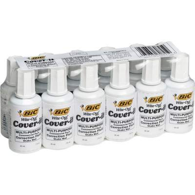 BIC Wite-Out Cover-it Correction Fluid (WOC12WEDZ)