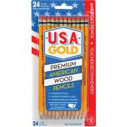 The Write Dudes USA Gold Prem American Cedar Pencils (41055)