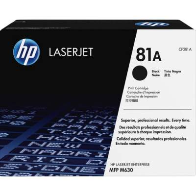 HP 81A Black Original LaserJet Toner Cartridge (CF281A)