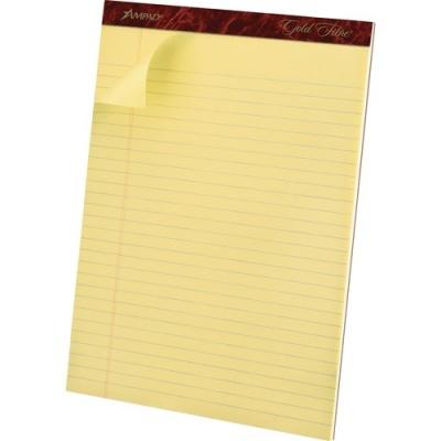 TOPS Ampad Gold Fibre Premium Rule Writing Pads - Letter (20020)