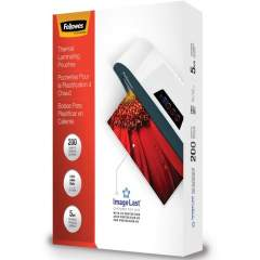 Fellowes Thermal Laminating Pouches - ImageLast, Jam Free, Letter, 5mil, 200 pack (5245301)