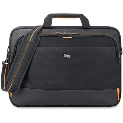 "Solo Urban Carrying Case (Briefcase) for 11"" to 17.3"" Ultrabook - Black, Gold (UBN300-4)"