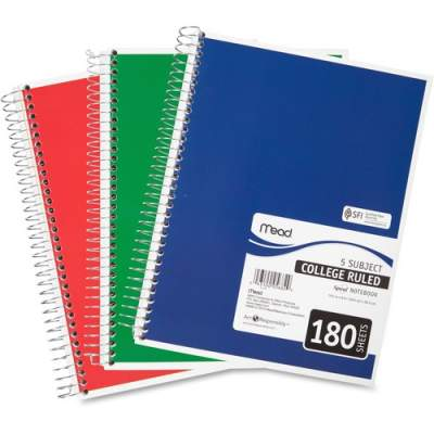ACCO Mead 5-subject Spiral Notebook (05682)