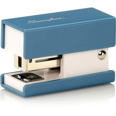 ACCO Swingline Mini Fashion Stapler, 12 Sheets, Blue (S7087872)