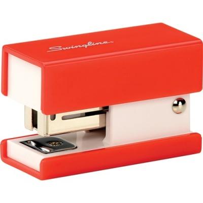 ACCO Swingline Mini Fashion Stapler, 12 Sheets, Red (S7087873)