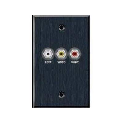 Avteq Single Gang Wall Plate With 3 Rca Connec (WP-3RCA)