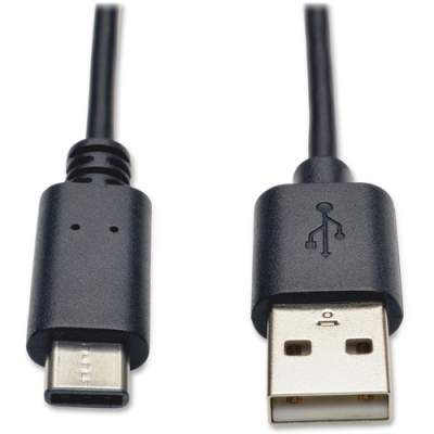 Tripp Lite 3ft USB 2.0 Hi-Speed Cable A Male to USB Type-C USB-C Male (U038-003)