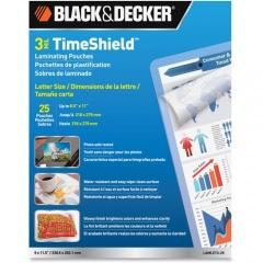 BLACK+DECKER BLACK+DECKER 3 mil TimeShield Letter-size Laminating Pouches (LAMLET325)