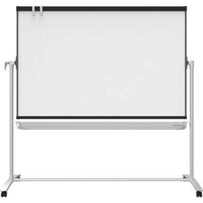 ACCO Quartet Prestige 2 Mobile Presentation Easel, Reversible Magnetic Whiteboard/Flipchart, 4' x 3', Graphite Frame (ECM43P2)