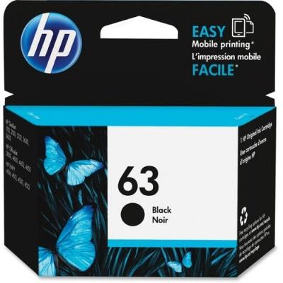 HP 63 Black Original Ink Cartridge (F6U62AN)