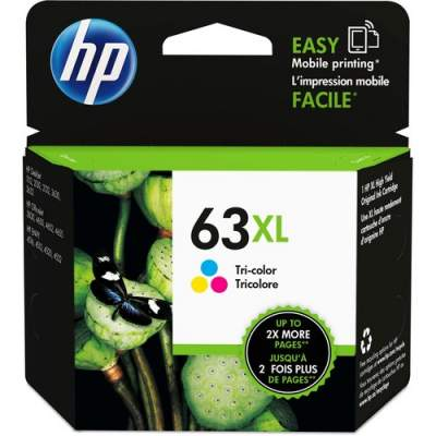 HP 63XL High Yield Tri-color Original Ink Cartridge (F6U63AN)