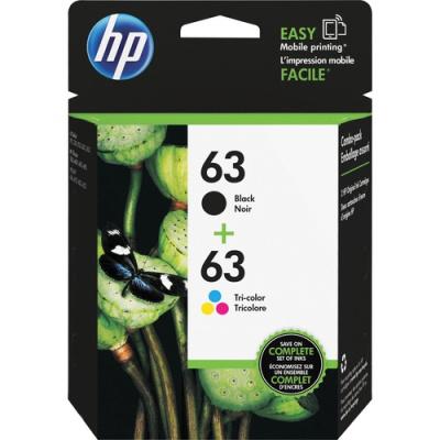HP 63 2-pack Black/Tri-color Original Ink Cartridges (L0R46AN)