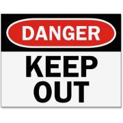 Tarifold Magneto Safety Sign Inserts - Danger Keep Out (P1949KP)