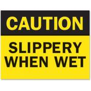 "Tarifold Magneto Safety Sign Inserts - ""Caution ... Wet"" (P1949SW)"