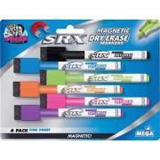 Mega Brands The Board Dudes SRX Magnetic Dry Erase Markers 6-Pack Assorted Colors (DDM77)
