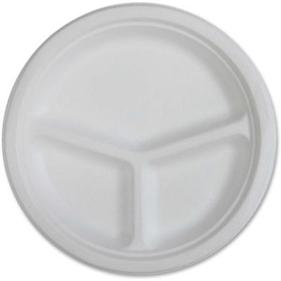 Genuine Joe 3-compartment Disposable Plates (10219)
