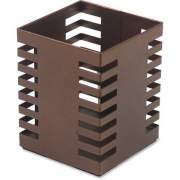 Lorell Stamped Metal Square Pencil Cup (84249)