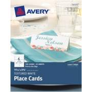 "Avery Place Cards, Uncoated, 1-7/16"" x 3-3/4"", Textured, White, 150 Cards (16109)"