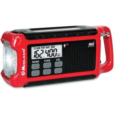 Midland Radio Corporation Midland ER210 E+Ready Compact Emergency Crank Weather Radio