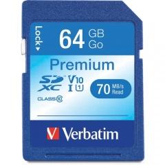 Verbatim 64GB Premium SDXC Memory Card, UHS-I Class 10 (44024)