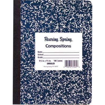 Roaring Spring Blue Marble Composition Book (77261)