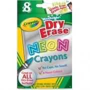 Crayola Washable DryErase Neon Crayons (988605)