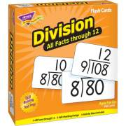 Trend Division all facts through 12 Flash Cards (53204)