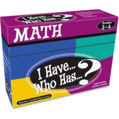 Teacher Created Resources 3&4 I Have Who Has Math Game (7819)