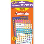 Trend Animals SuperShapes Stickers Variety Pack (46904)