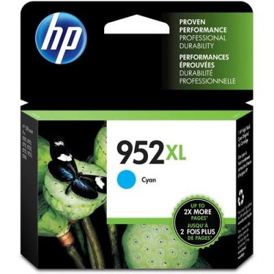 HP 952XL High Yield Cyan Original Ink Cartridge (L0S61AN)
