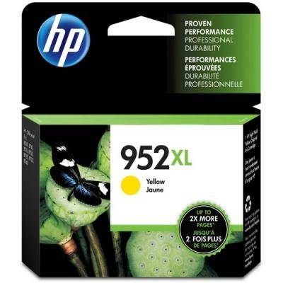 HP 952XL High Yield Yellow Original Ink Cartridge (L0S67AN)
