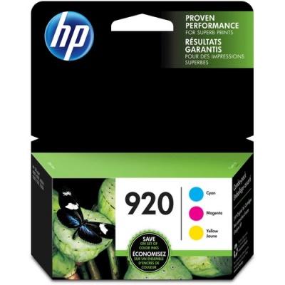 HP 920 3-pack Cyan/Magenta/Yellow Original Ink Cartridges (N9H55FN)