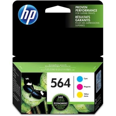 HP 564 3-pack Cyan/Magenta/Yellow Original Ink Cartridges (N9H57FN)