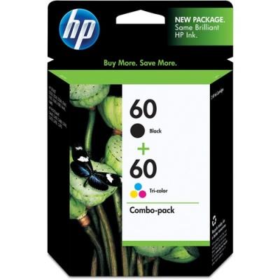 HP 60 2-pack Black/Tri-color Original Ink Cartridges (N9H63FN)