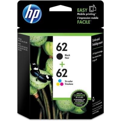 HP 62 2-pack Black/Tri-color Original Ink Cartridges (N9H64FN)