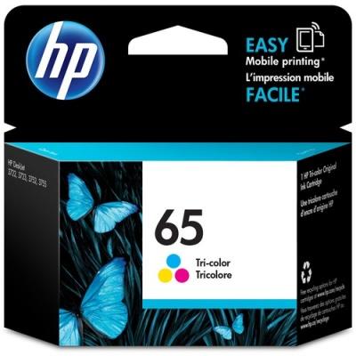 HP 65 Tri-color Original Ink Cartridge (N9K01AN)