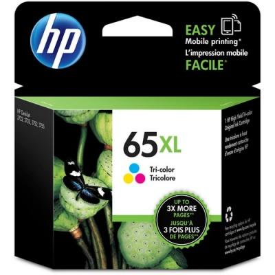 HP 65XL Tri-color Original Ink Cartridge (N9K03AN)