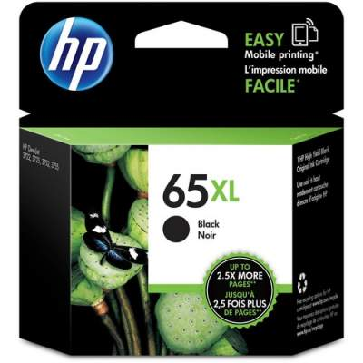 HP 65XL Black Original Ink Cartridge (N9K04AN)