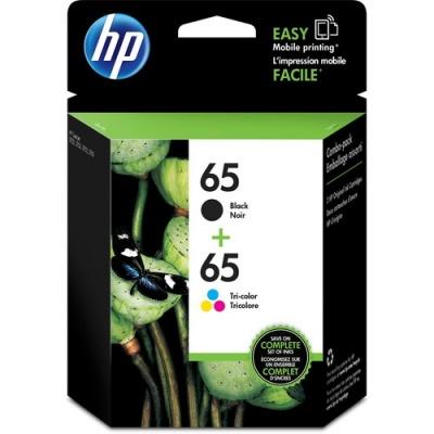 HP 65 2-pack Black/Tri-color Original Ink Cartridges (T0A36AN)