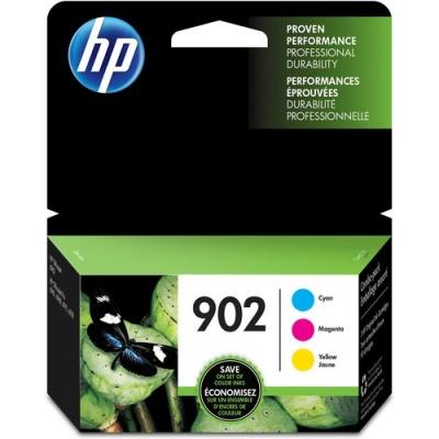 HP 902 3-pack Cyan/Magenta/Yellow Original Ink Cartridges (T0A38AN)