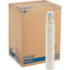 Dixie PerfecTouch Insulated Paper Hot Coffee Cups by GP Pro (5356CDCT)