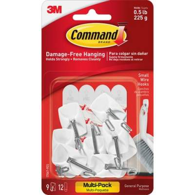 3M Command Small Wire Hooks Value Pack (170679ES)
