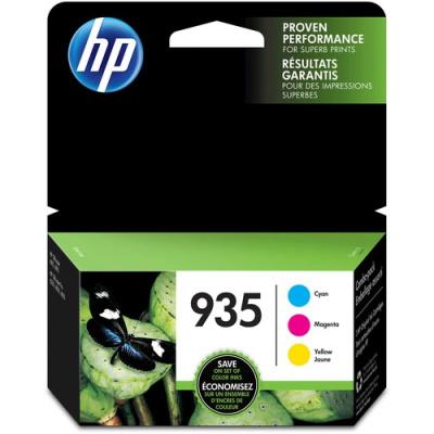 HP 935 3-pack Cyan/Magenta/Yellow Original Ink Cartridges (N9H65FN)