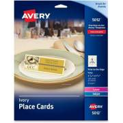 "Avery Ivory Place Cards, Two-Sided Printing, 1-7/16"" x 3-3/4"", 150 Cards (5012)"