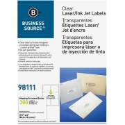 Business Source Clear Address Labels (98111)