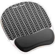 Fellowes Photo Gel Mouse Pad Wrist Rest with Microban - Black Chevron (9549901)