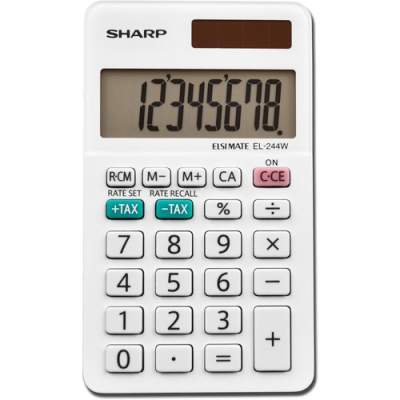 Sharp EL-244WB 8 Digit Professional Pocket Calculator
