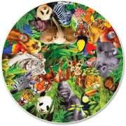 A Broader View Wild Animals 500-piece Round Puzzle (373)
