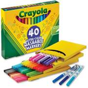 Crayola 40 Ultra-Clean Fine Line Washable Markers (587861)